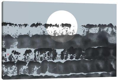 Hidden Moon N° 5 (Behind The Horizon) Canvas Art Print