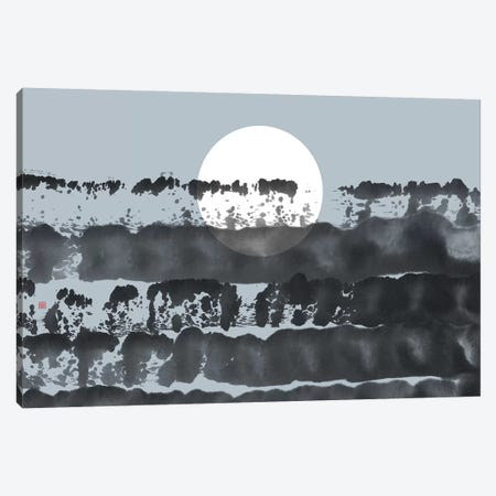 Hidden Moon N° 5 (Behind The Horizon) Canvas Print #TAD143} by Thoth Adan Canvas Artwork