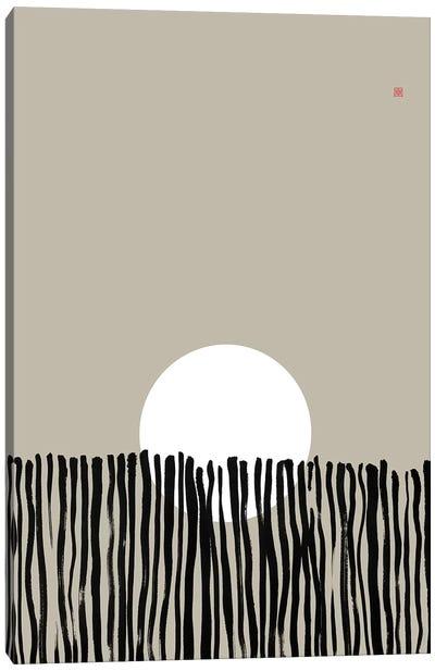 Hidden Moon N° 6 (Behind The Fence) Canvas Art Print