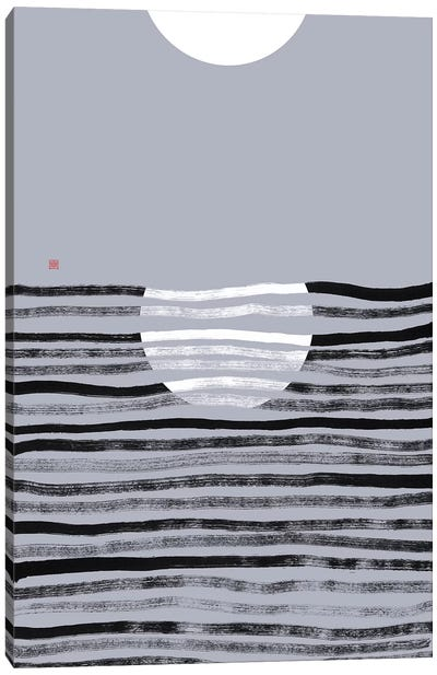 Hidden Moon N° 2 (Reflection) Canvas Art Print