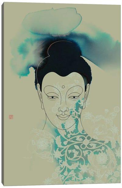 Blue Buddha Shakyamuni Canvas Art Print