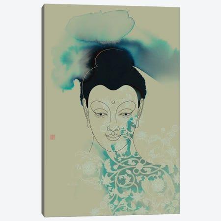 Blue Buddha Shakyamuni Canvas Print #TAD14} by Thoth Adan Canvas Artwork