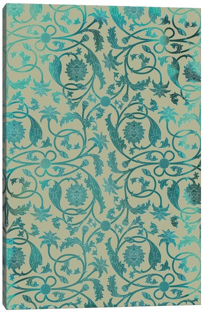 Blue Indian Lotus Canvas Art Print
