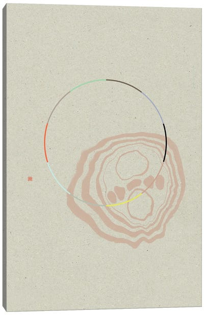 Overlapping Realities (Étude Circulaire N° 16) Canvas Art Print