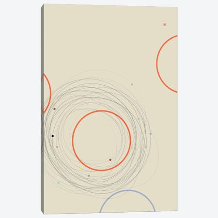 Running Round In Circles (Étude Circulaire N° 18) Canvas Print #TAD185} by Thoth Adan Canvas Print
