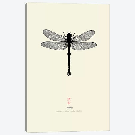 Dragonfly Canvas Print #TAD37} by Thoth Adan Canvas Wall Art