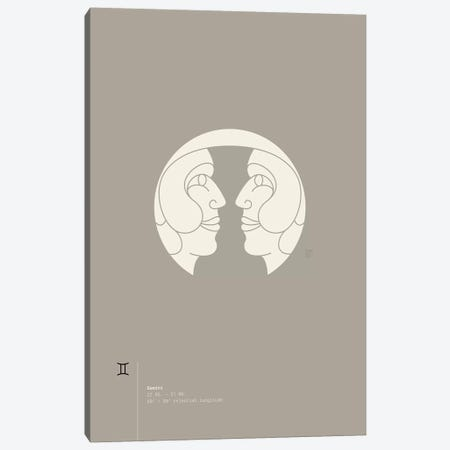 Gemini Canvas Print #TAD53} by Thoth Adan Art Print