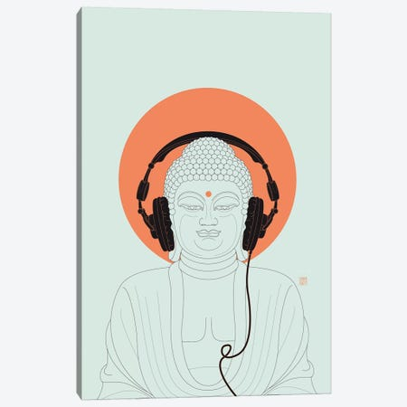 Listen To Om! Canvas Print #TAD67} by Thoth Adan Canvas Print