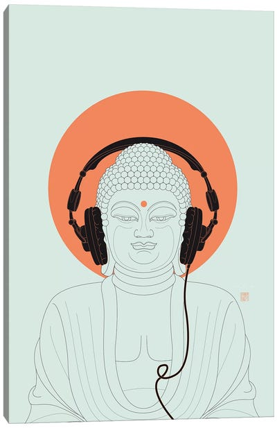 Listen To Om! Canvas Art Print