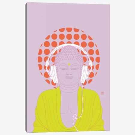 Listen To Om! (Pop Art Version) Canvas Print #TAD68} by Thoth Adan Canvas Artwork