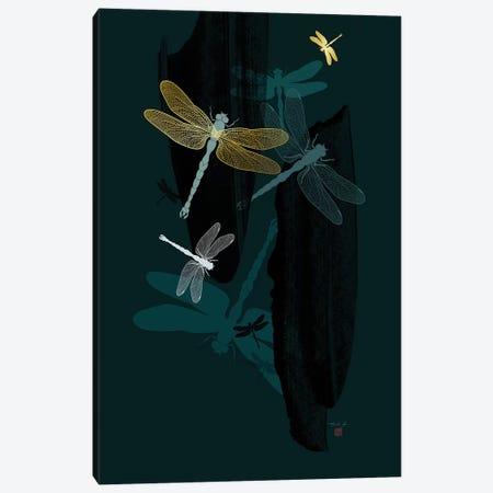 Midnight Dragonflies Canvas Print #TAD72} by Thoth Adan Canvas Print