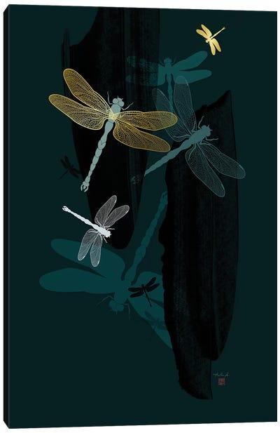 Midnight Dragonflies Canvas Art Print