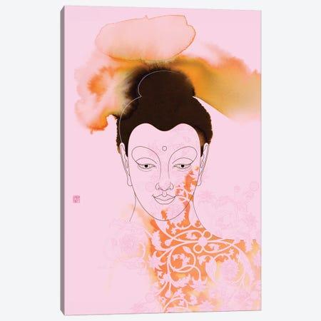 Pink Buddha Shakyamuni Canvas Print #TAD78} by Thoth Adan Art Print