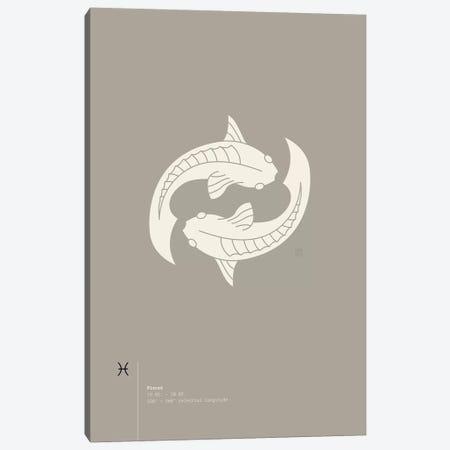 Pisces Canvas Print #TAD79} by Thoth Adan Art Print