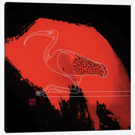 Scarlet Ibis Canvas Print #TAD82} by Thoth Adan Canvas Wall Art