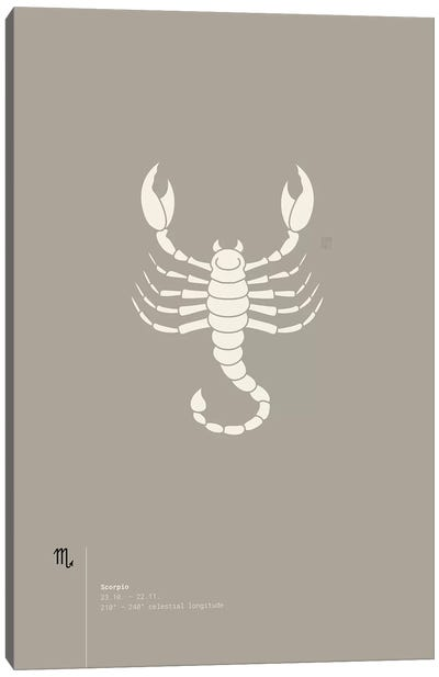 Scorpio Canvas Art Print