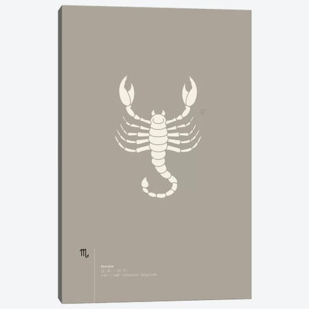 Scorpio Canvas Print #TAD83} by Thoth Adan Canvas Artwork