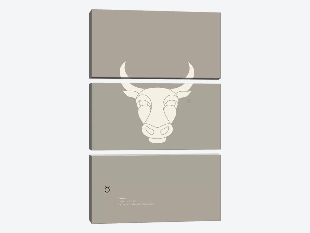 Taurus by Thoth Adan 3-piece Canvas Artwork