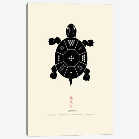 Turtle Lo Shu Canvas Print #TAD95} by Thoth Adan Canvas Artwork
