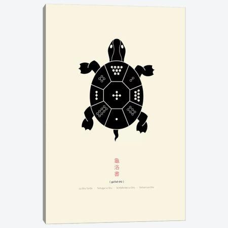 Turtle Lo Shu Canvas Print #TAD95} by Thoth Adan Canvas Artwork
