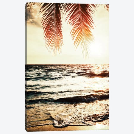 Night Beach Canvas Print #TAI10} by Tai Prints Canvas Artwork