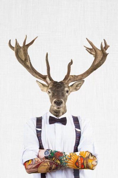 Deer Man Canvas Art By Tai Prints Icanvas