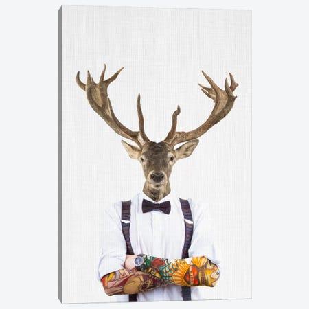 Deer Man Canvas Print #TAI4} by Tai Prints Canvas Artwork