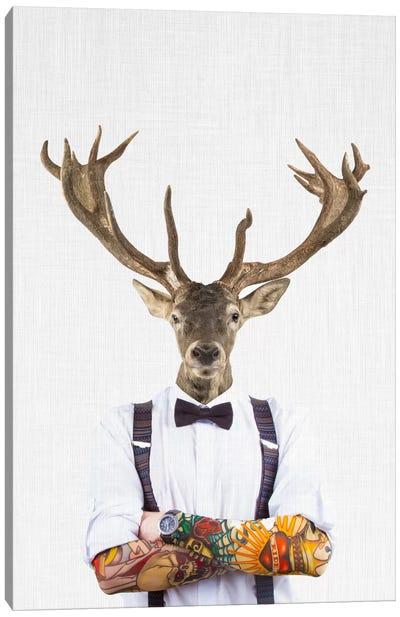 Deer Man Canvas Art Print
