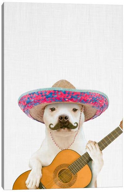 Dog Guitarist Canvas Art Print