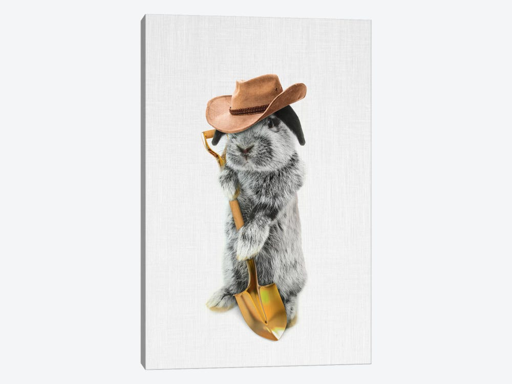 Rabbit Farmer 1-piece Canvas Art