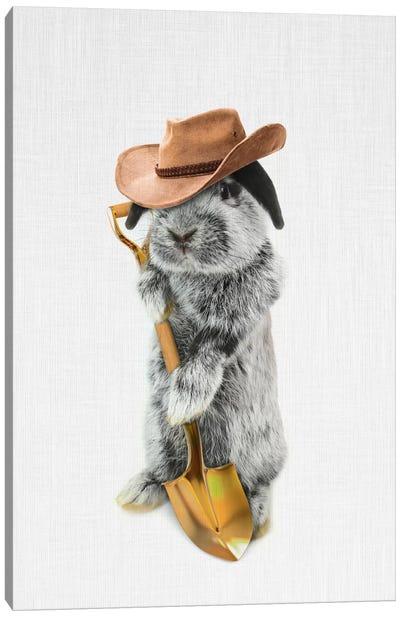 Rabbit Farmer Canvas Art Print