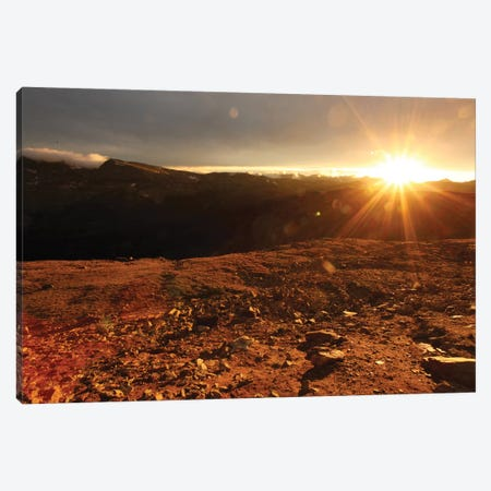 Rockies At Sunset Canvas Print #TAL38} by Taylor Allen Art Print