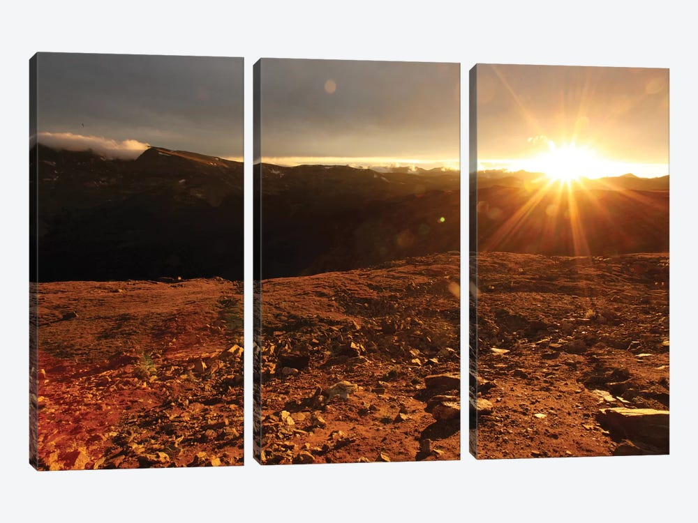 Rockies At Sunset by Taylor Allen 3-piece Canvas Print