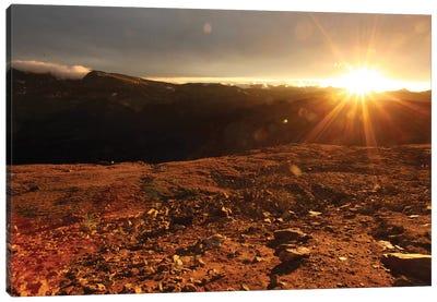 Rockies At Sunset Canvas Art Print