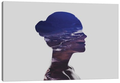 Silhouette V Canvas Art Print