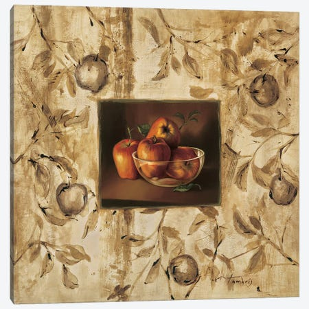 Manzanas en la mesa Canvas Print #TAM1} by Raul Tamaris Canvas Print