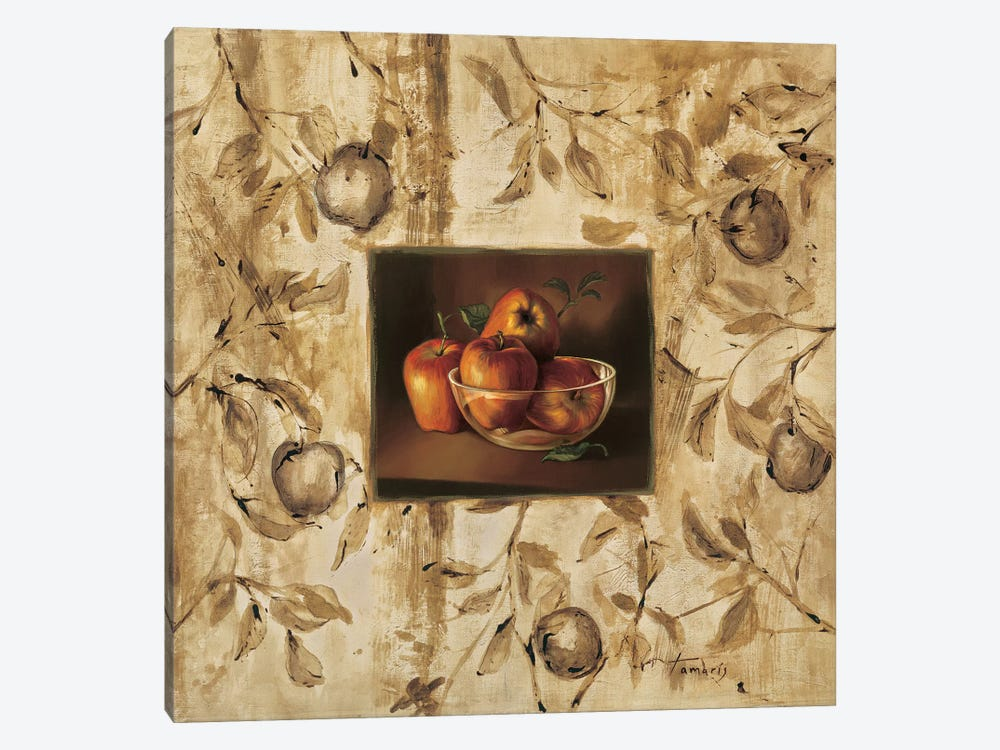 Manzanas en la mesa by Raul Tamaris 1-piece Canvas Wall Art