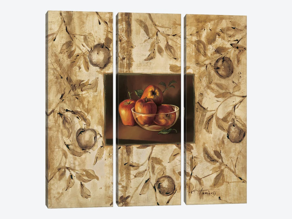 Manzanas en la mesa by Raul Tamaris 3-piece Canvas Art
