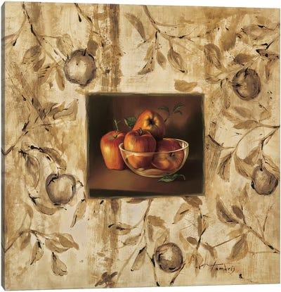 Manzanas en la mesa Canvas Art Print