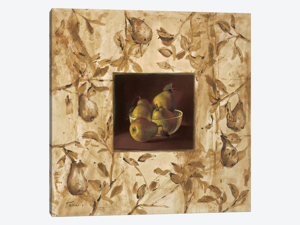 Peras en la mesa by Raul Tamaris 1-piece Canvas Art Print