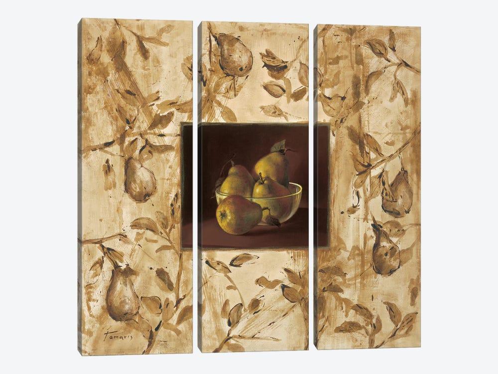Peras en la mesa by Raul Tamaris 3-piece Art Print