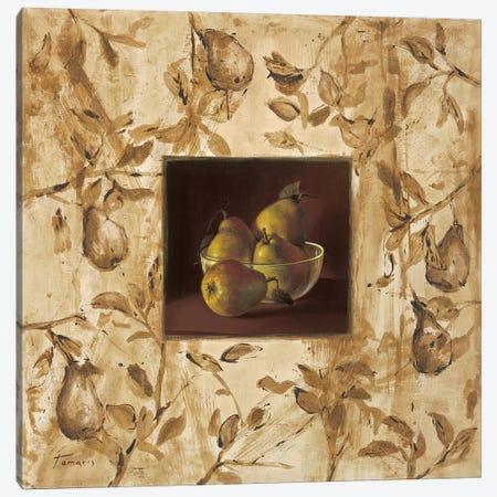 Peras en la mesa Canvas Print #TAM2} by Raul Tamaris Canvas Art Print