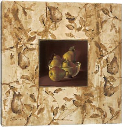 Peras en la mesa Canvas Art Print