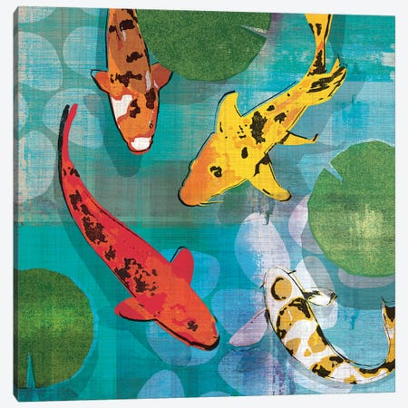 Lucky Koi I Canvas Print #TAN120} by Tandi Venter Canvas Wall Art