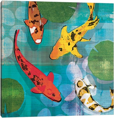 Lucky Koi I Canvas Art Print