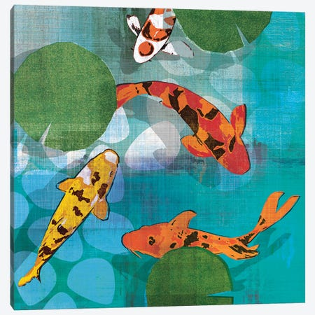 Lucky Koi II Canvas Print #TAN121} by Tandi Venter Canvas Artwork