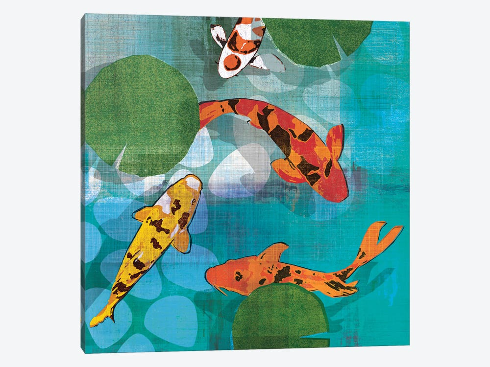 Lucky Koi II by Tandi Venter 1-piece Canvas Artwork