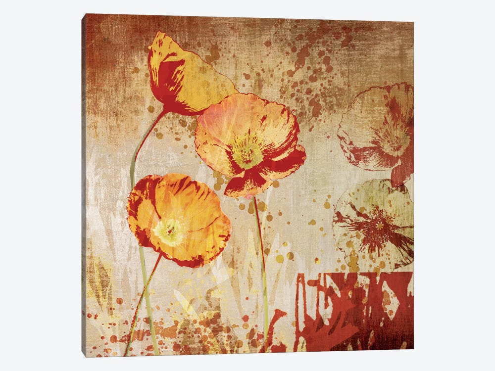 Poppy Heat II 1-piece Canvas Artwork