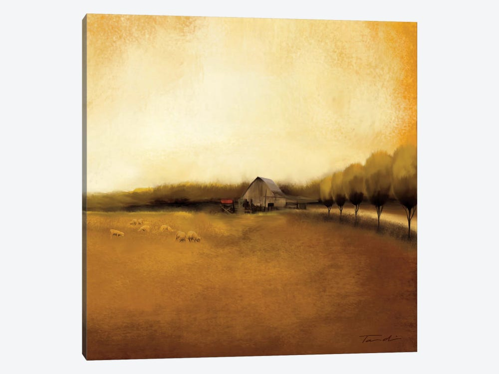 Rural Landscape I by Tandi Venter 1-piece Canvas Art Print