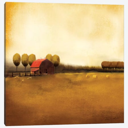 Rural Landscape II 3-Piece Canvas #TAN163} by Tandi Venter Canvas Wall Art